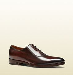 shaded leather lace-up shoe Gucci