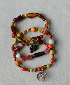 Autumn Jewelry  Stackable Bracelet Stretch by KayBeeDesignbyNature