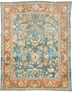 Persian Sultanabad rug, J. Persian Carpet, Persian Rug, Iranian Rugs, Persian Culture, Interior Rugs, Natural Fiber Rugs, Textiles, Magic Carpet, Geometric Rug