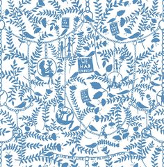 We Had Everything China Blue wallpaper by Mini Moderns