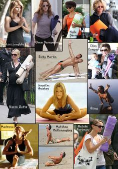 Celebrities That Love Yoga Collage www.downdogboutique.com