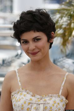 audrey tautou / curly pixie / love the volume and texture