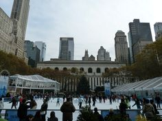 Ice skating in Byrant Park. Read my review here http://thatideasgirl.com/travel/idea-28-new-york