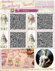 animal crossing QR codes. Bumbury Town Rococo Royal: Madame Du Barry