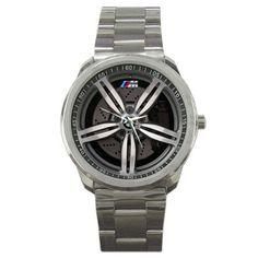 2008 BMW M5 Touring Wheel Sport Metal Watch | zarkop - Jewelry on ArtFire