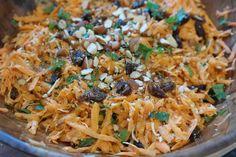 Crunchy Carrot, Date, Almond Salad