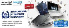 Asus Cashback - Zakúpte si notebook ASUS a získajte až 105 € naspäť.