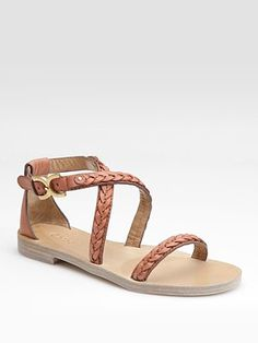 174 bucks. Chloé - Braided Leather Flat Sandals. Invested in a nice pair of neutral sandals.