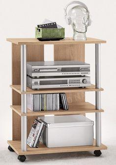 TV/hi-fi regál Variant 7, dub sonoma Rack Tv, Storage Rack, Media Storage, Storage Spaces, Buy Tv Stand, Glass Tv Stand, Media Cabinet, Home Additions, Tv Cabinets