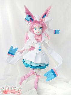 Sylveon Pokemon Custom OOAK monster high doll by Dollightful