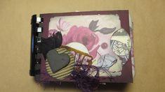 Plum Toned Tag Journal/Vintage Ladies/Junk Journal/ Notebook/Gratitude/TN /Handmade Ephemera/Scrapbook/Gift for Anyone by Maroonmanx on Etsy