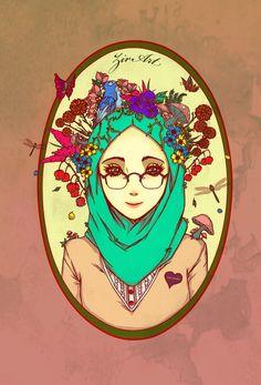 Anime manga hijab art a. Art Anime, Anime Manga, Dark Boy, Islamic Cartoon, Anime Muslim, Hijab Cartoon, People Illustration, Illustrations, Manga Characters