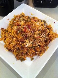 Loobia Polo (Persian Rice with Beef and Green Beans)