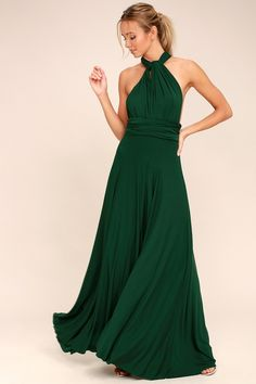 Tricks of the Trade Forest Green Maxi Dress 14