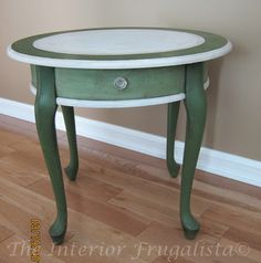 Milk Painted Table Upcycle
