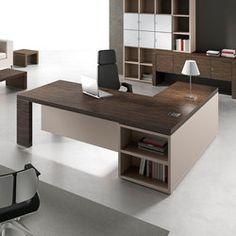 L-shaped office desk with shelves TITANO Office Table Design, Office Setup, Office Desks, Luxury Bedroom Furniture, Office Furniture, L Shaped Office Desk, Business Office Decor, Buy Desk, Corporate Interiors