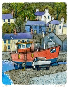 Chris Neale Studio - signed limited edition art prints and original artwork Landscape Art, Landscape Paintings, Image 3d, Naive Art, Print Artist, Painting Inspiration, Kitsch, Painting & Drawing, Illustrators