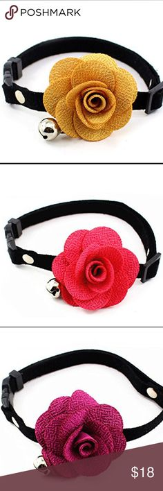 Flower Pet Collar Charming Flower Bell Pet Collar. Available in 3-sizes. Accessories