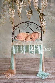Digital Newborn Backdrop / prop  newborn Swing by LaceCloudStudio