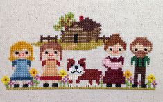 Little House on the Prairie 2 Pack Cross Stitch Patterns: