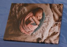 'Cute baby-canvas printing'.