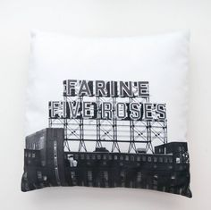 """Cool cushion shop - Cushion in Velvet """"Flour Five Roses"""" - picture icon of Montreal black & white Cushion Covers, Pillow Covers, Impression Textile, Picture Icon, Pillow Quotes, Pink Quotes, Of Montreal, Gifts For My Boyfriend, Cushions"""