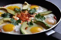 Chilaquiles - you can make this using leftover chips and salsa!