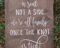 Hey I Found This Really Awesome Etsy Listing At Https Www 195956568 Choose A Seat Not Side Wedding Sign Pinterest Weddings