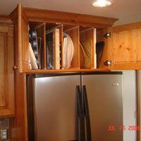 Custom Cabinet Above The Refrigerator