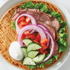 One tiny switch brings the taste of a Greek deli home. Deli Gyros are made with deli roast beef and all the traditional toppings for a weeknight meal.