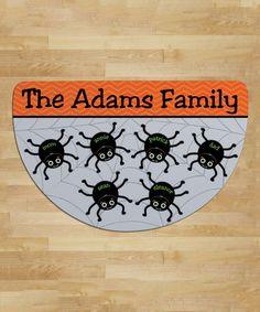 Look at this #zulilyfind! Spider Web Personalized Six-Name Round Indoor/Outdoor Doormat #zulilyfinds