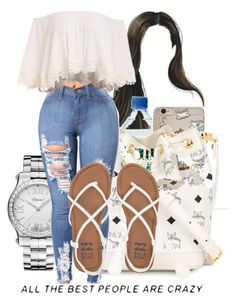 """""""feelin white"""" by th3-qu33n-25 ❤ liked on Polyvore featuring Chopard, MCM and Billabong"""