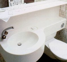 space saver-reuse the water you use for washing your hands and let it flush the toilet.