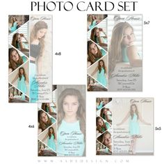 Pennant - Photo Card Graduation Templates for Photographers | Ashe Design