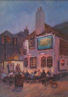 James Bemis | St Ives Art Gallery - Waterside - St Ives The Sloop at Twilight Oil on Panel.