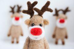 Felt miniature pocket reindeer by MistrSandman on Etsy
