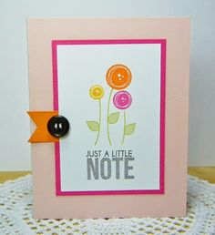 Just A Little Note Card by Melissa Bickford for Papertrey Ink (July 2014)