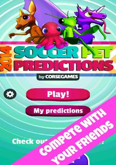 Wanna know which team will win the world cup Brazil 2014? This group of fortune-tellers pets will help you to predict the end results of the football matches. Choose the match you want to predict from Brazil 2014, then choose your favorite pet and obtain the end result of the match. Get points for every correct guess. ------5 pets----  - Ask the psychic Paul the octopus  - Ask Einstein, the oracle and super intelligent parrot.  - Ask Jackie the kangaroo. You will never know...