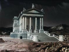 View De Tate Gallery verplaatst By Carel Willink; oil on canvas; 90 x 124 cm; Access more artwork lots and estimated & realized auction prices on MutualArt. Tate Gallery, City Painting, Magic Realism, Fantasy Places, Dutch Painters, Hyperrealism, Dutch Artists, Art Techniques, Art And Architecture
