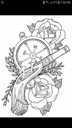 Steampunk coloring pages by Rickey Tattoo Flash Art, Tatoo Art, Colouring Pages, Adult Coloring Pages, Coloring Books, Dibujos Tattoo, Desenho Tattoo, Skull Stencil, Tattoo Stencils