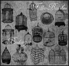 Birdcages Brushes Set 1 by =Falln-Stock on deviantART