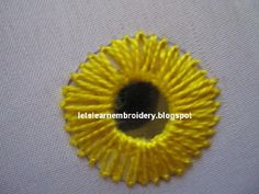 Another shisha variation: lazy daisy stitch