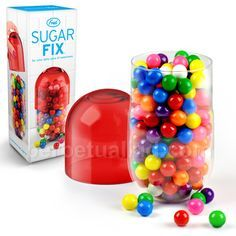 """SUGAR FIX CANDY CAPSULE -- fill it with M's, leave it at your desk for when you need a """"chill pill"""""""