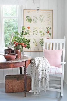 VIBEKE DESIGN Our home has 5 rocking chairs. If you're like us you like to see how other's decorate with them. Beautiful design.