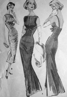 1950s Fashion Illustration