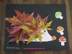 A l'heure ou tombent les dernières feuilles, voici une activité créative qui a passionné mon lutin : le Hérisson en feuilles d'automne...