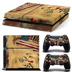 PlayStation 4 PS4 Console Skin Decal Sticker Desert War + 2 Controller Skins Set #ZoomHit