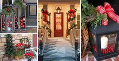 Świąteczne dekoracje drzwi z czerwonym akcentem, które zachwycą Twoich gości
