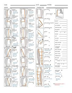 """cosplaytutorial: """" For those who are planning to start sewing their own cosplays this year this might be helpful: How to take measurements! Waist Front / Waist..."""