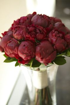 Crimson Peony Bouquet Red
